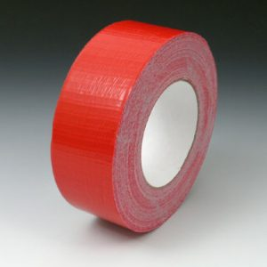 "2"" x 180' Colored Duct Tape - Red (9 mil) - 24 Rolls per Carton"
