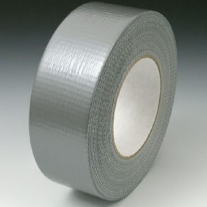 "2"" x 180' Colored Duct Tape - Silver (9 mil) - 24 Rolls per Carton"