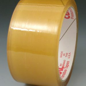 "3"" x 330' Natural Rubber Adhesive Carton Sealing Tape - Clear (1.6 mil) (24 per carton)"