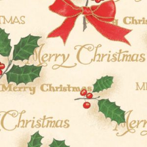 """Holiday Classic - Scripted Holly Gift Wrap 7 -3/8""""x100 Gift Wrap Jeweler's Roll (3 rolls)"""