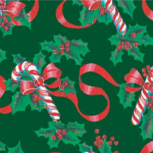 """Holiday Classic - Ribbons & Canes Gift Wrap 30""""x417' Gift Wrap Half Ream Roll (1 roll)"""