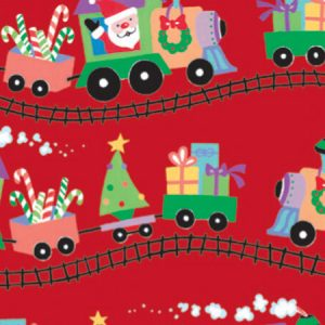 "Holiday Kids - Santa Express Gift Wrap 24""x417' Gift Wrap Half Ream Roll (1 roll)"