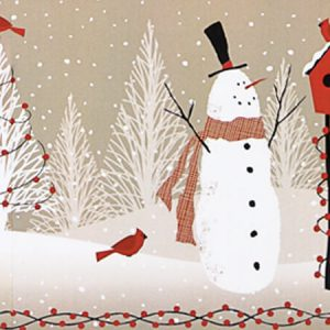 "Woodland Snowman 24""x417' Recycled Gift Wrap Counter Roll (1 Roll)"