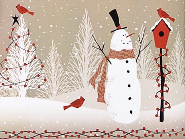 """Woodland Snowman 24""""x417' Recycled Gift Wrap Counter Roll (1 Roll)"""