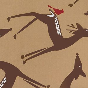 """Woodland Deer 24""""x85' Recycled Gift Wrap Cutter Box (2 Boxes)"""