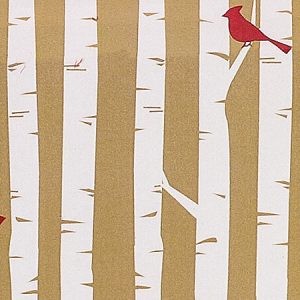 "Woodland Cardinals 24""x417' Recycled Gift Wrap Counter Roll (1 Roll)"