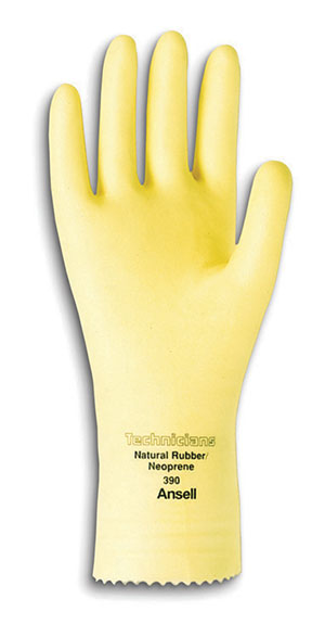 #10 Technicians 88-390 Natural Rubber Latex Gloves (8 Packs; 12/Pack) - R3-390-10