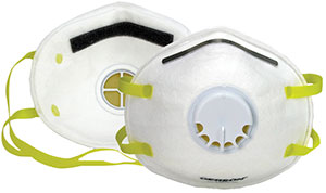 Low-Profile N95 Particulate respirator w/ exhale valve - (6 Packs; 10/Pack) - R3-1740