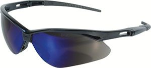 Black Jackson Safety* V30 Nemesis* Safety Eyewear - Blue Mirror (16/Pack) - R3-14481