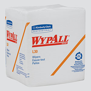 "12.5"" x 12"" Wypall* L30 Wipers 1/4 Fold (2 Cases; 1080 Wiper/Case) - R3-05812"