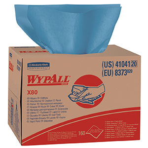 "12.5"" x 16.8"" Wypall* X80 Wipers (4 Cases; 160 Wipes/Case) - R3-41041"