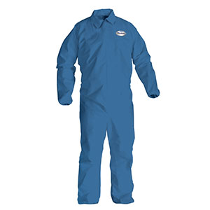 Disposable Clothing - L Blue KleenGuard* A20 Breathable Particle Protection Coveralls - (24/Case) - R3-58503