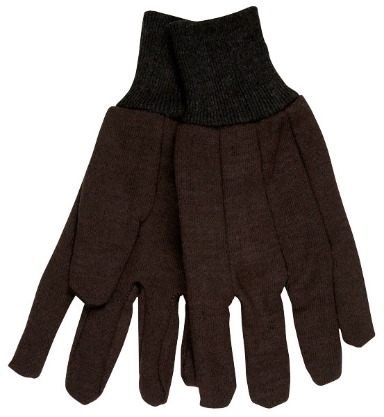 L Brown Jersey Gloves (12 Packs; 12/Pack) - R3-7100