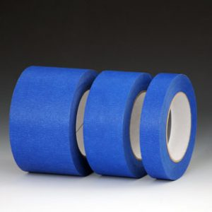 "3"" x 180'  Blue Painters' Masking Tape - 25 lb. Tensile Strength"