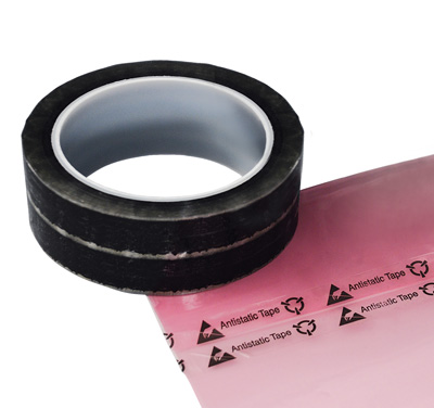 """1"""" x 216' Anti-Static Clear Cellophane Tape with Printed Message"""