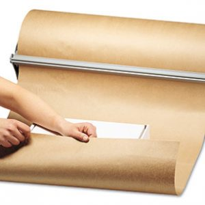 "24"" x 600' Kraft Wrapping Paper on a Roll (60 lb.)"