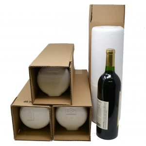 1 Bottle Styrofoam Wine Shipping Box and Cooler (4 per Pack)