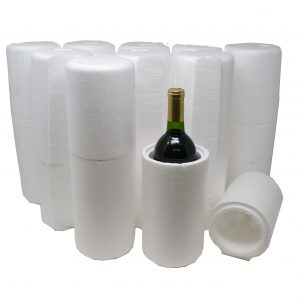 1 Bottle Styrofoam Wine Shipping Coolers (Cooler Only) (9 per Pack)