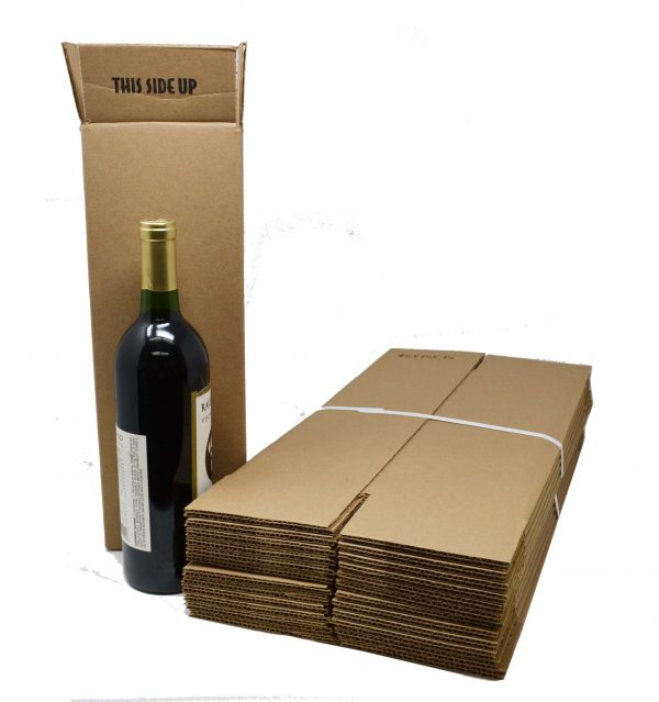 1 Bottle Wine Shipping Boxes for Wine Shipping Coolers (Boxes Only) (12 per Pack)