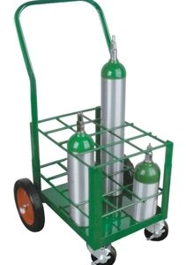 """Oxygen Tank Cart for Port A Cylinder for 12 """"E"""" Cylinders - MES-0072"""