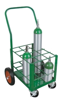 "Oxygen Tank Cart for Port A Cylinder for 12 ""E"" Cylinders - MES-0072"