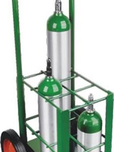 "Oxygen Tank Cart for Port A Cylinder for 6 ""E"" Cylinders - MES-0073"