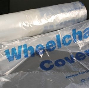 Clear Plastic Cover for Standard Wheelchairs, 50/Roll - MES-0134