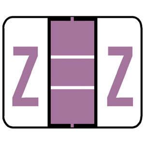 "1""H x 1-1/4""W Lilac Tab & Smead Compatible 1"" Alpha Labels 'Z' (240/Pack) - TP240-Z"
