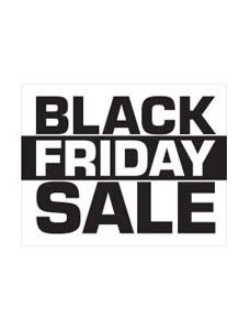 Small Black Friday Sale Sign Card (Pack of 25) - STOR-15823