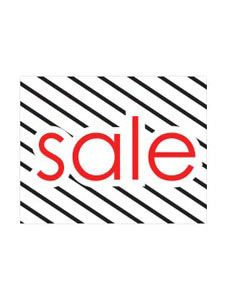 Small Sale Sign Card (Pack of 25) - Diagonal Stripes - STOR-15829