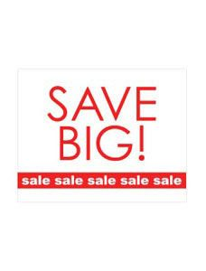 Small Save Big - Sale, Sale, Sale Sign Card (Pack of 25) - STOR-15831