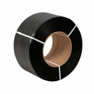 """PolyPRO Strap - Poly Hand Grade (Black) - 8 X 8 Core - 1/2"""" X 7200', .015 Thickness, 300 lbs Tensile (1 Coil)"""
