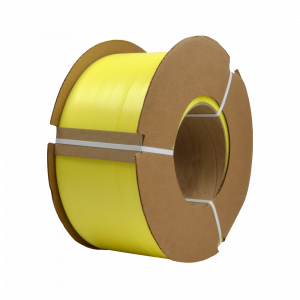 """PolyPRO Strap - Poly Hand Grade (Yellow) - 8 X 8 Core - 1/2"""" X 7200', .031 Thickness, 600 lbs Tensile (1 Coil)"""