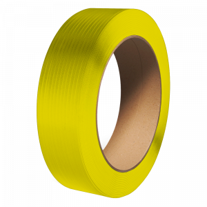 """PolyPRO Strap - Poly Hand Grade (Yellow) - 16 X 6 Core - 1/2"""" X 7200', .031 Thickness, 600 lbs Tensile (1 Coil)"""