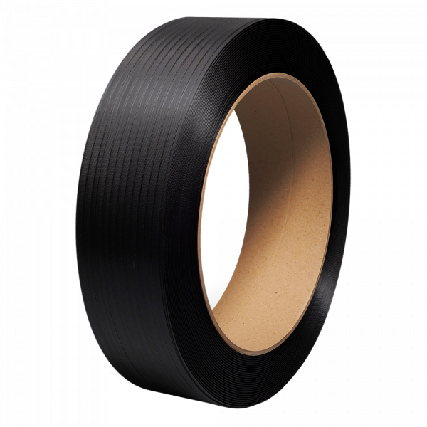 """PolyPRO Strap - Poly Hand Grade (Black) - 16 X 6 Core - 1/2"""" X 7200', .031 Thickness, 600 lbs Tensile (1 Coil)"""