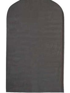 """Black 54"""" Polyester Suit Covers (25/Pack) - STOR-27206"""