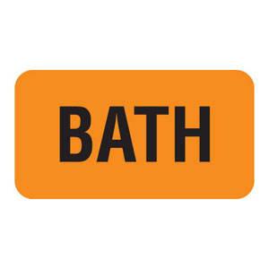 "1-5/8""W x 7/8""H Fluorescent Orange ""Bath"" (560/Roll) - V-AN216"