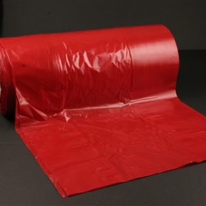 """Red Colored Plastic Equipment Bags/Covers for Suction Pump 15 x 9 x 33"""" 1.5 Mil (175 Bags/ Roll) - MES-3115"""