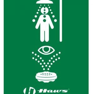 "8"" x 10-3/4"" Universal Emergency Shower and Eyewash Sign - SAFETY-HW-SP178"