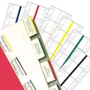 "3""W - 1/2"" Black 3"" Erasable Write-On Index Tabs (10 Packs/Box) - 58909"