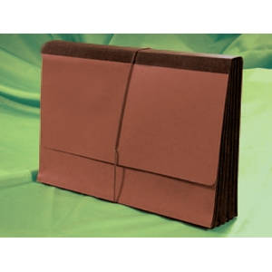 "10""H x 15""W x 5-1/4""D Red Rope 5 Piece Expansion Wallet with Cord and Premium Paper Gusset (50/Case) - 1076GLP"