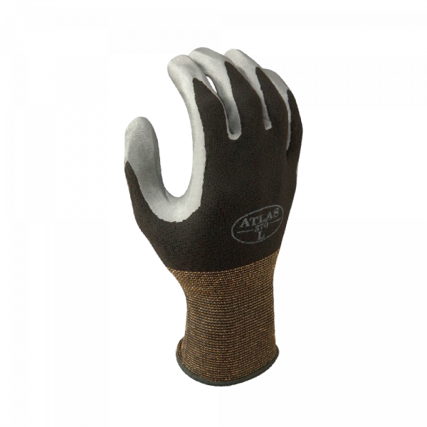 Atlas Gloves - Light Weight Palm Coated - Assembly Grip B - Nitrile Palm Dipped - Nylon Shell (Size: S) (12 Pairs of Gloves)