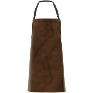 """Brown Vinyl Apron With Leather Look 26""""W x 30""""L (2 Aprons) - HUB-54889"""