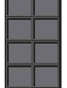 Black Flocked Tray Inserts With 8 Compartments (30/Pack) - STOR-55156