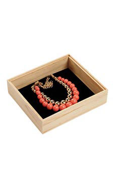 Natural Wood Jewelry Tray (5/Pack) - STOR-55242