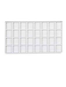 White Plastic Tray Inserts With 32 Compartments (35/Packs) - STOR-55362