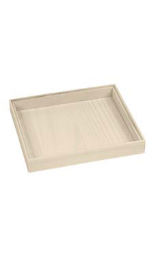 Small Antique White Wood Jewelry Tray (5/Pack) - STOR-55547