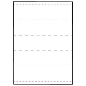"8-1/2""W x 11""H Sheet White Medical Transcription Labels 2"" Strips, Perf-thru (100/Box) - 59531"