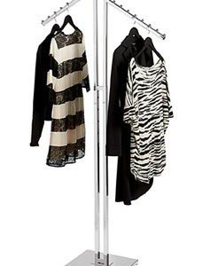 Chrome 2-Way Clothes Rack - Slant Arms - STOR-60107