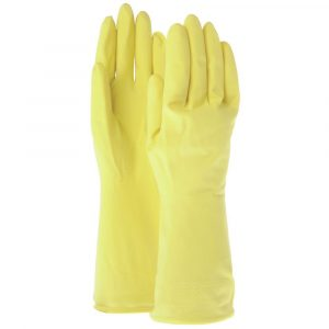 """Lined Latex Gloves 12""""Large, 12 Pairs/Case (2 Cases) - HUB-60144"""